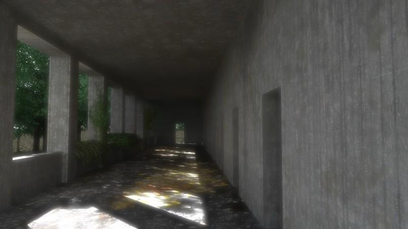 rendering esterno portico